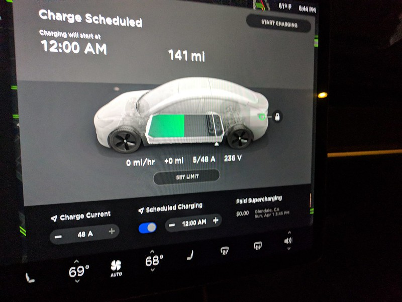 Scheduled Charging greyed out? | Tesla Model 3 Owners Club
