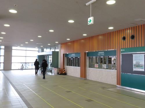 福島競馬場の南口2階入口