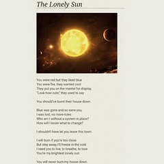 The Lonely Sun #poem #poetry