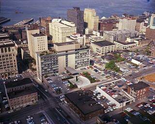 Municipal Building and surrounding area, 1967