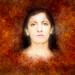 Portrait of Evi in orange