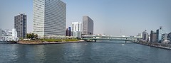 sumida river from eitai bashi bridge