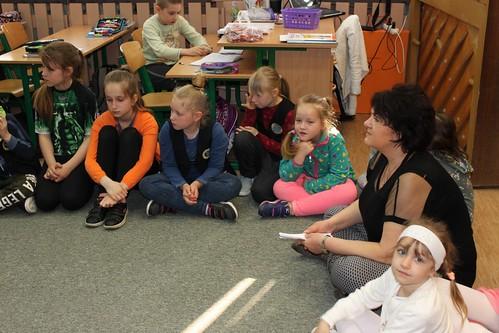 Pierwsza lekcja w szkole przedszkolaków