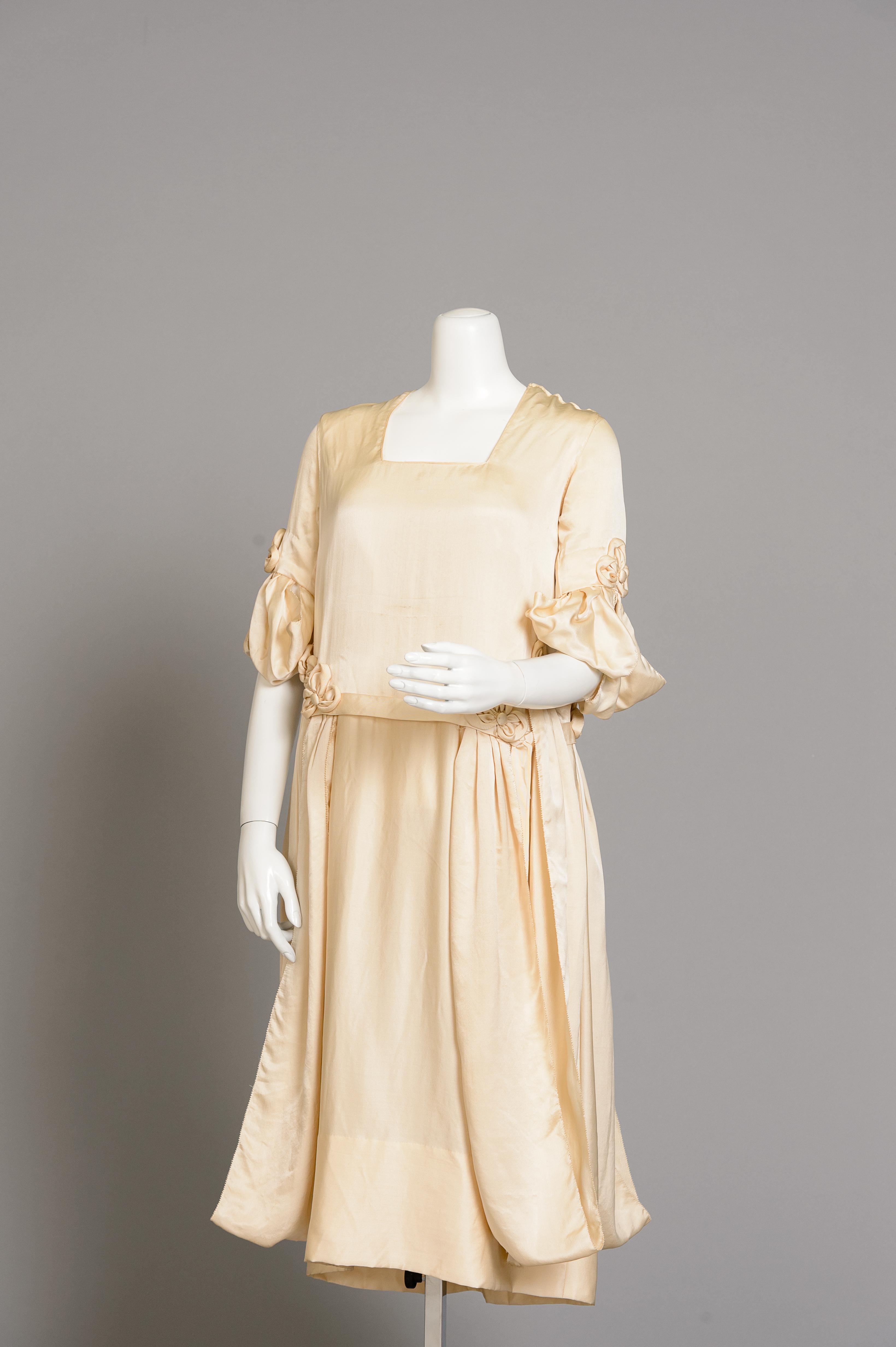 Fashion and Satire: Silk Satin Wedding Dress