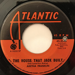 ARETHA FRANKLIN:THE HOUSE THAT JACK BUILT(LABEL SIDE-A)