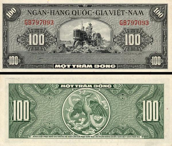 100 Dong Južný Vietnam 1955, P8a