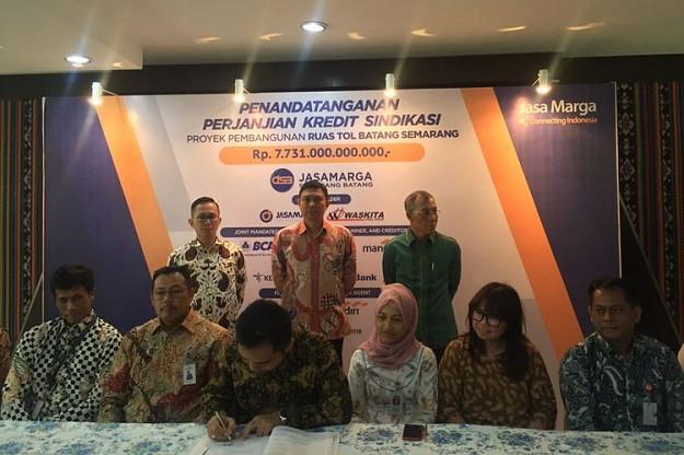 Biayai Tol Batang-Semarang, Jasa Marga Gaet Kredit Sindikasi Rp7,731 T