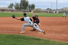 Nick Peters sliding to 3rd (Gary Moskalyk)