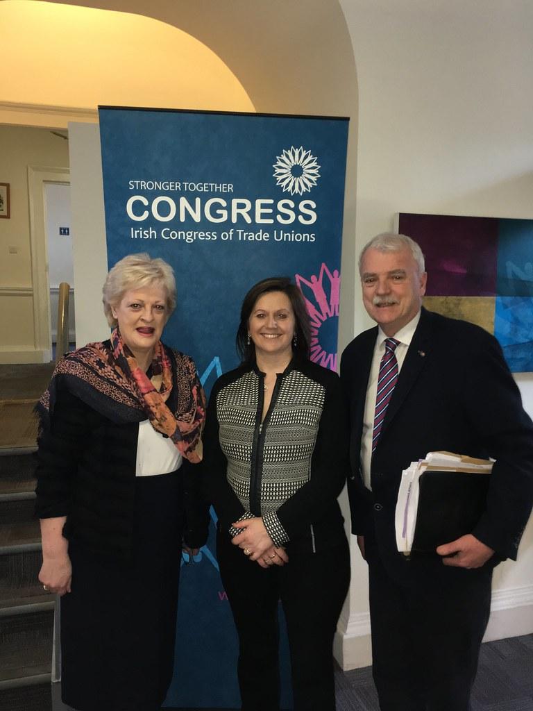 Patricia King, Claire Mahon & Minister McGrath