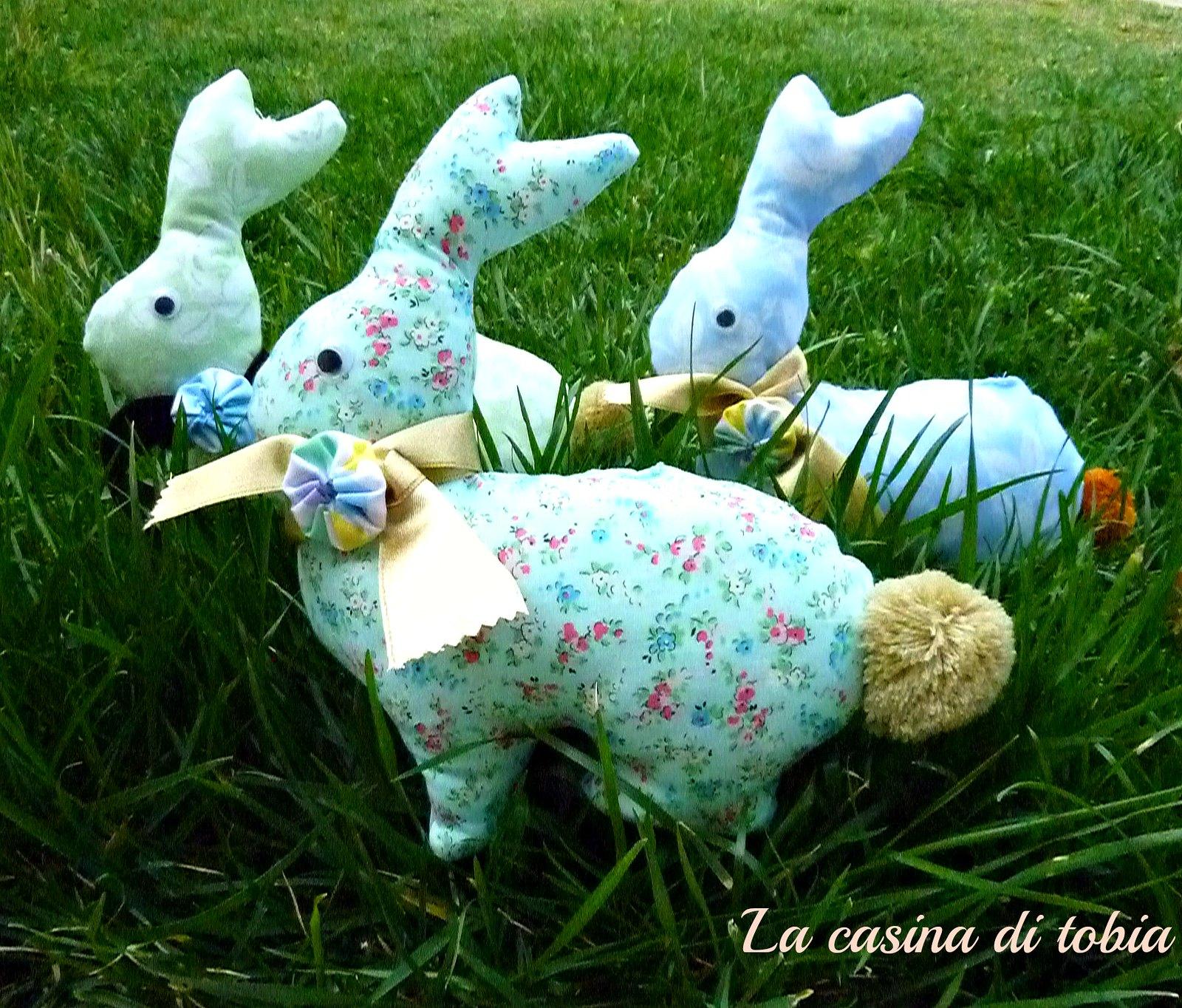 coniglietti handmade cuciti a mano La casina di Tobia