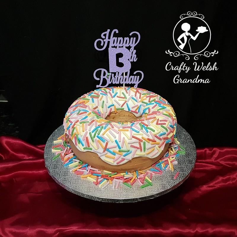 Giant Doughnut Birthday Cake