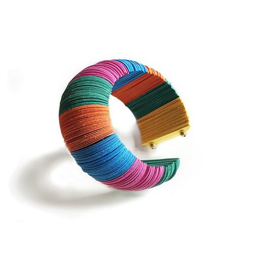 Paper Jewelry Bangle Bracelet by Alfieri Jewel Design