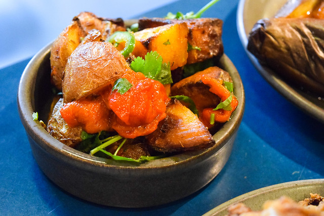Red Pepper Potatoes at The Good Egg, Kingly Court #potatoes #sides #goodegg #lunch #london