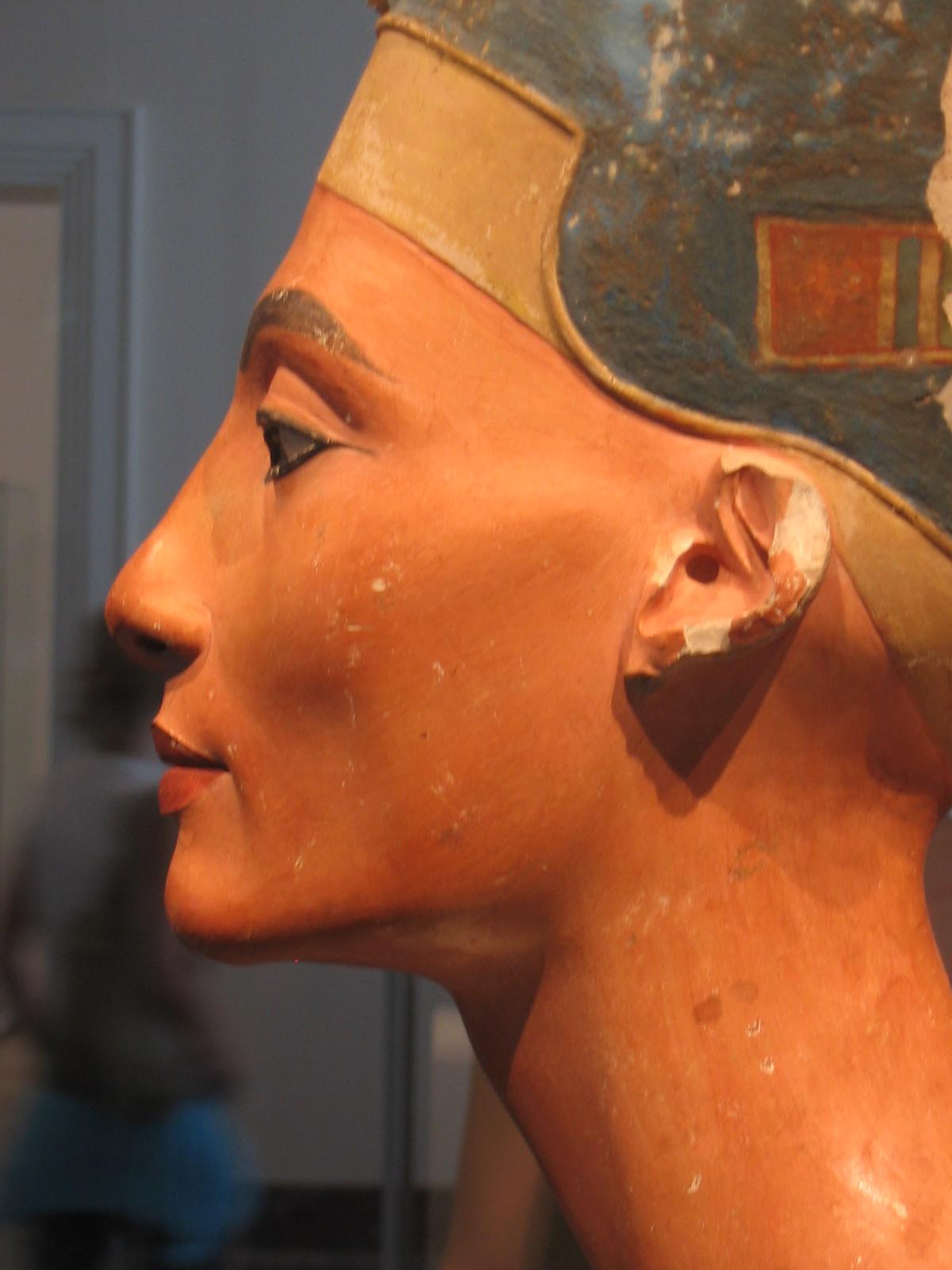 Bust of Nefertiti. Photo taken on March 1, 2003.