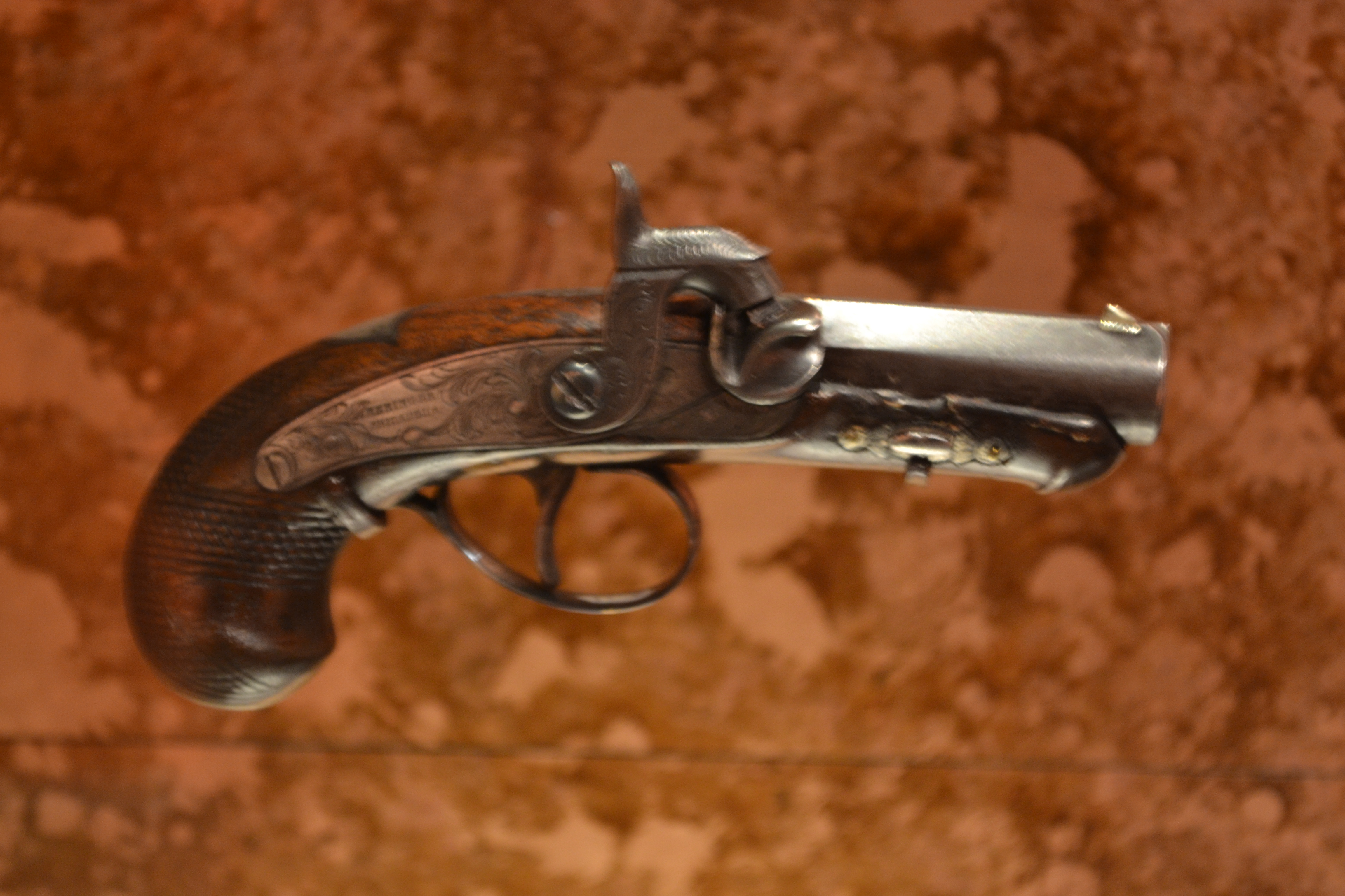 The gun used to assassinate Abraham Lincoln on display at Ford's Theatre in Washington, D.C. Photo taken on January 10, 2013.