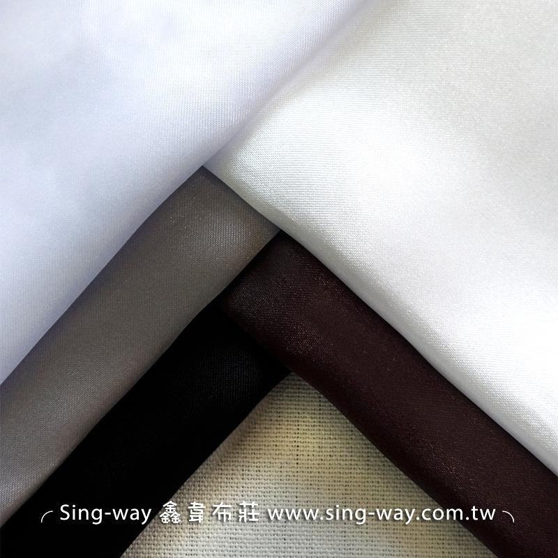LD290077 白黑咖色系 素面緞面 沙典 秀士 三角緞 亮面節慶裝飾 桌巾 表演舞台禮服 服裝布料