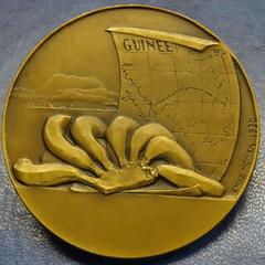 1930 Paris Exposition Peulhs of Guinea Medal reverse