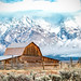 John Moulton Barn in Mormon Row at Grand Teton National Park by Jim Frazee