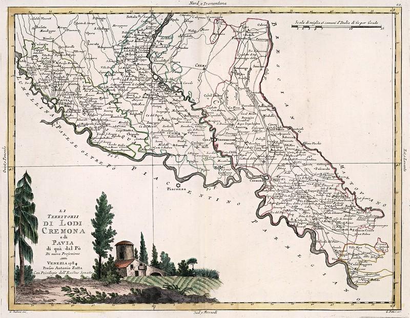 Antonio Zatta - Li Territorii di Lodi Cremona (1784)