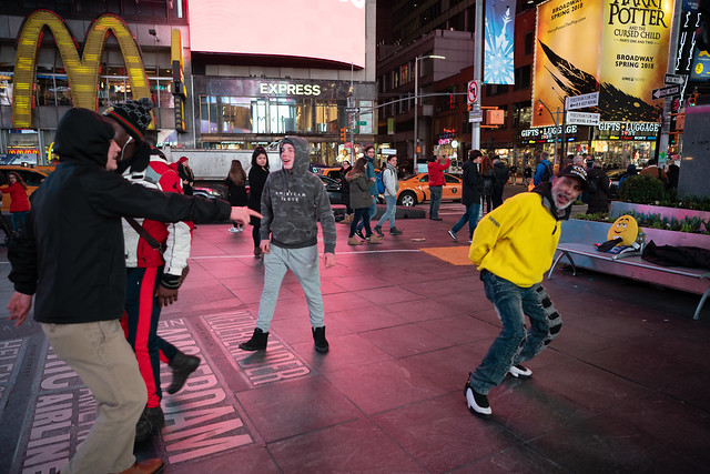 Dancers at Times Square