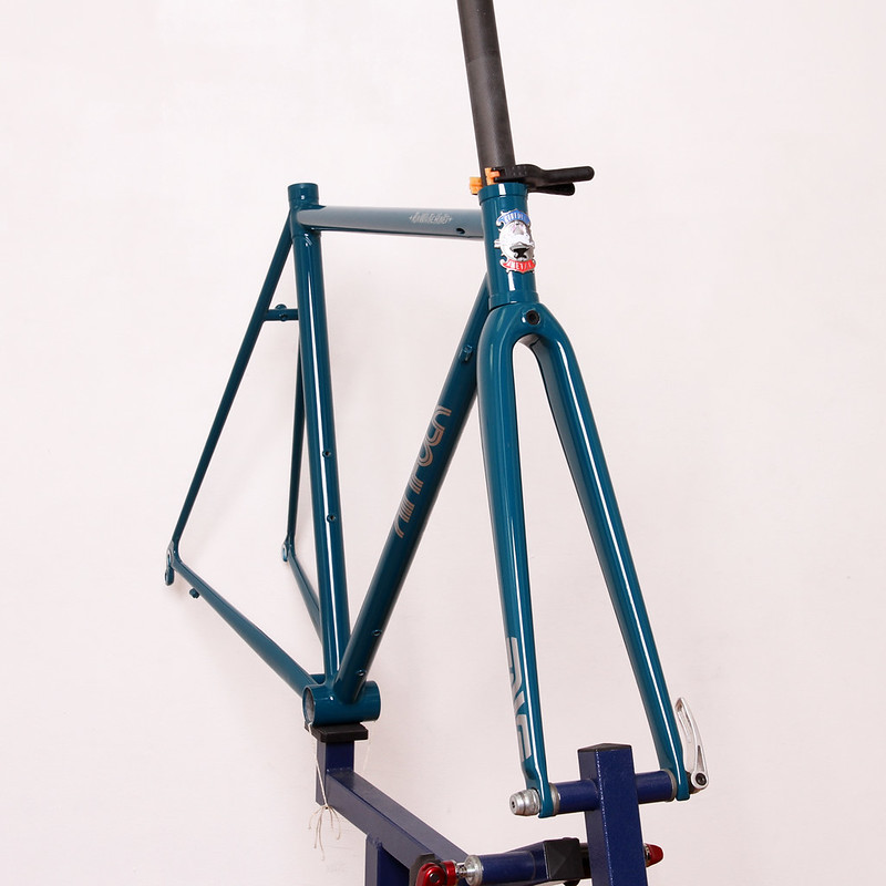 KINFOLK Steel Road Frame & Fork Painted by Swamp Things