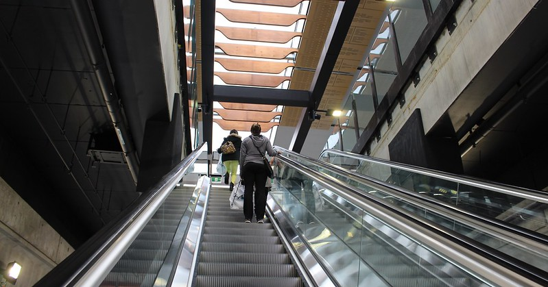 Escalators at Clayton station