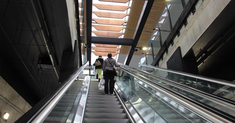 Escalators at Clayton station