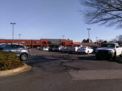 Full parking lot at the Trinity Commons Kroger (prior to the new year)