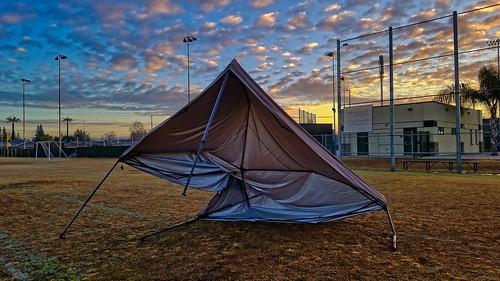 popup cover broken field sunrise davemeyer kingsburg clouds fence chainlink gruesome horrific brokenleg