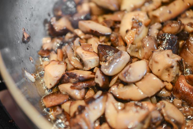 Grilled Strip Steaks with Mushroom Gravy