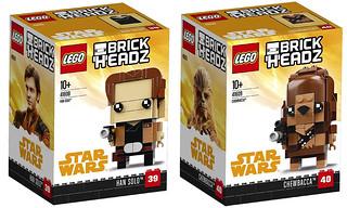 最佳拍檔年輕時!!LEGO 41608、41609 BrickHeadz 系列《星際大戰外傳:韓索羅》韓索羅、丘巴卡 Solo: A Star Wars Story Han Solo、Chewbacca