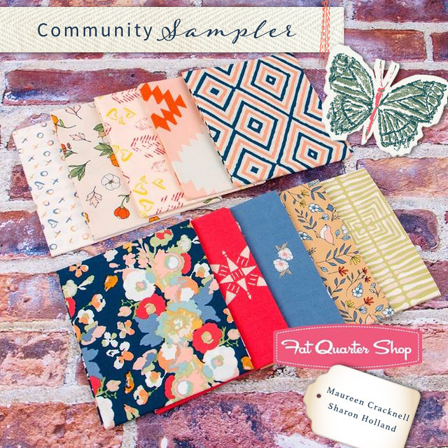 A Community Sampler GIVEAWAY with FQS for a Love Story Enchanted FQ Bundle