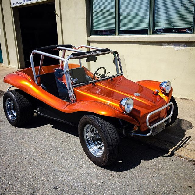 Dune Buggy! Seen locally And that candy orange paint - #dunebuggy