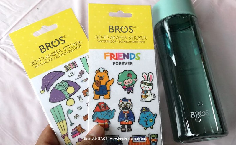 Sticker Botol Air BROS