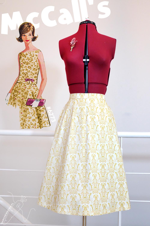 marchewkowa, blog, szycie, sewing, rękodzieło, handmade, moda, styl, vintage, retro, repro, 1960s, Wrocław szyje, w starym stylu, McCall's 6273, two-piece dress, komplet, ręcznie wykończenia, sukienka dwuczęściowa