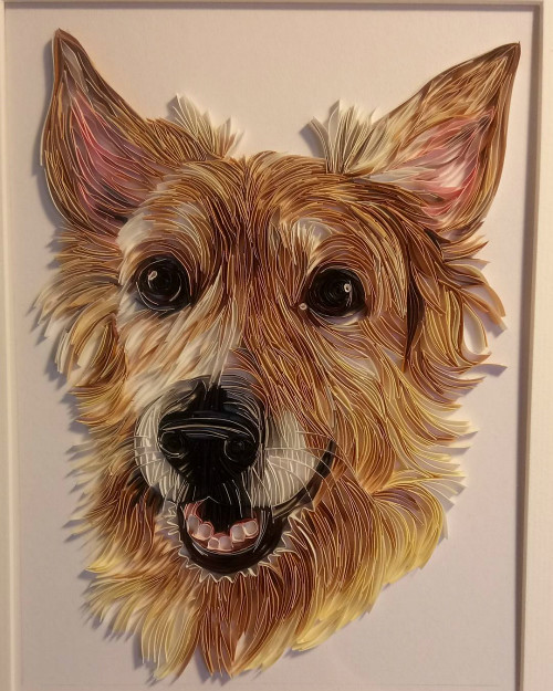 Quilling Paper Art Dog Portrait