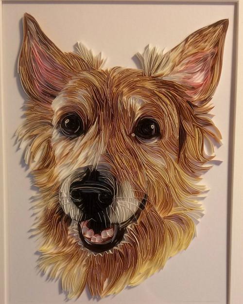 On-Edge Paper Art Dog - Rebekah Jenkins