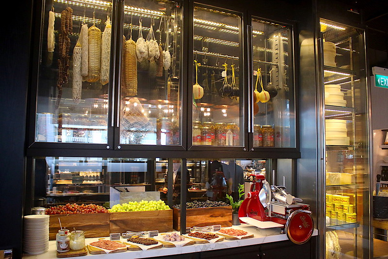 Charcuterie section
