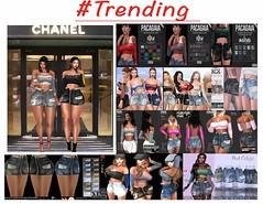 Now Trending : Distressed Denim Skirt and Off Shoulder Crop Shirt