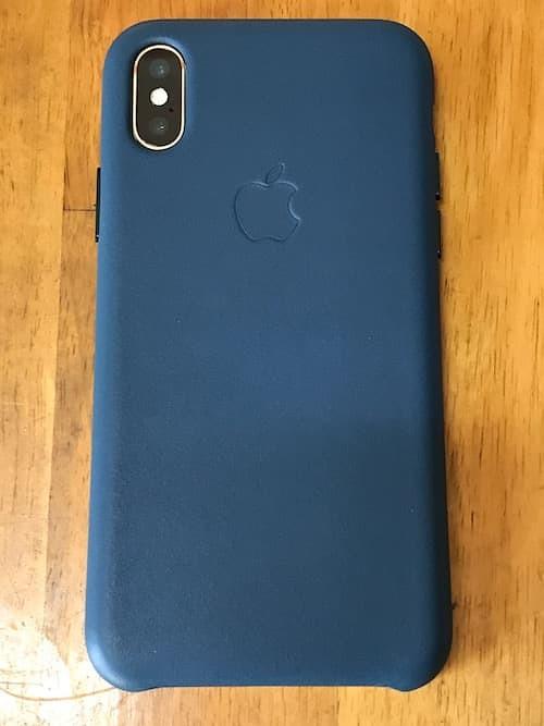 Apple純正iPhone Xレザーケース