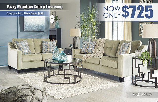 Bizzy Meadow Sofa & Loveseat_69502-38-35-T138