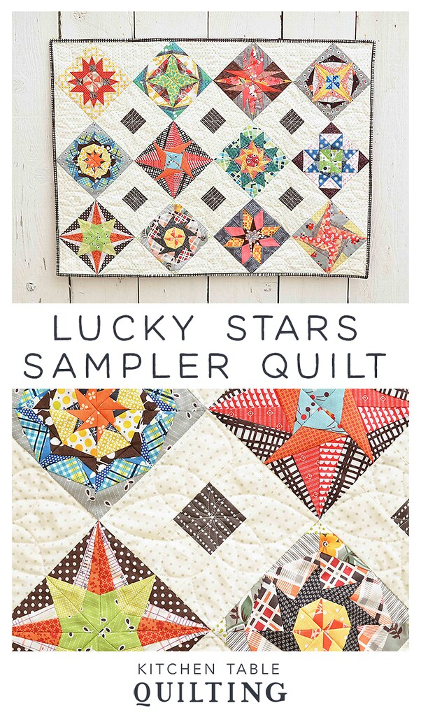 Lucky Stars Sampler Quilt Vertical