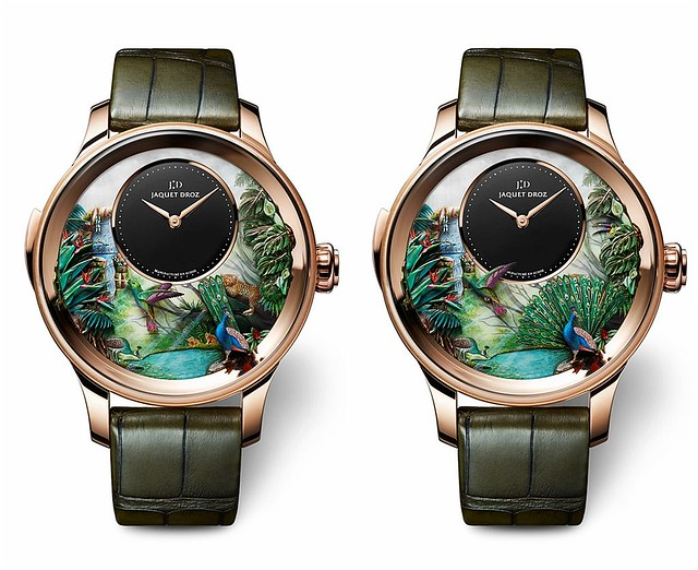 Jaquet Droz Tropical Bird Repeater Watch - Open & Close