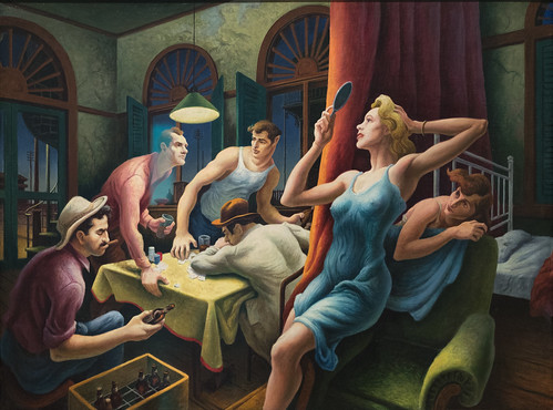 Thomas Hart Benton, Poker Night (from A Streetcar Named Desire), 1946 1/15/18 #whitneymuseum