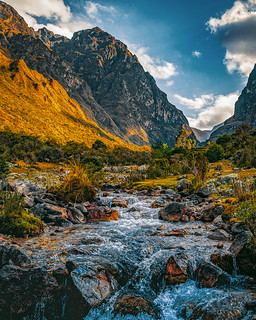 Mountain, shade and fresh water.
