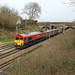 59205 working 7Z21 11:44 Hitchin Up Yard to Acton T.C, Woolmer Green J/n - 06.04.2018