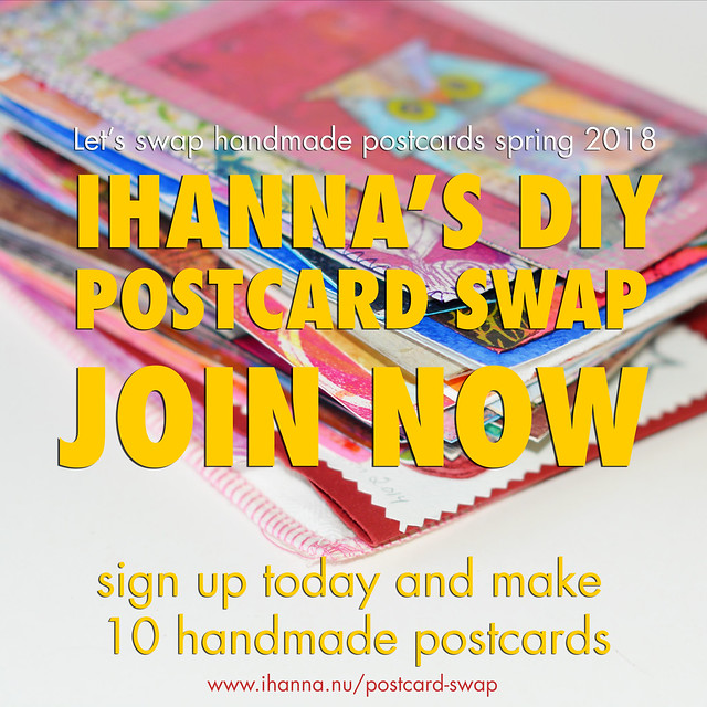 Postcard Swap open right now so sign up for iHannas DIY Postcard Swap Spring 2018