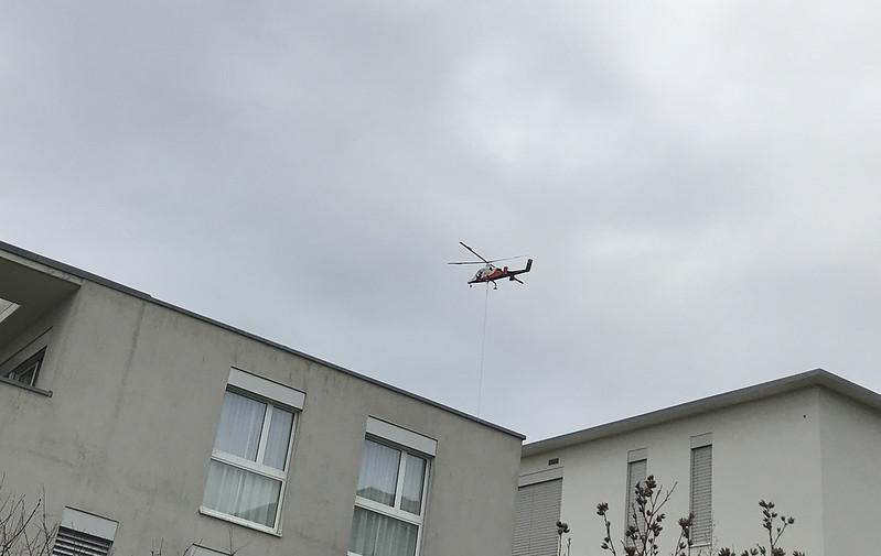 Helicopter over Feldbrunnen