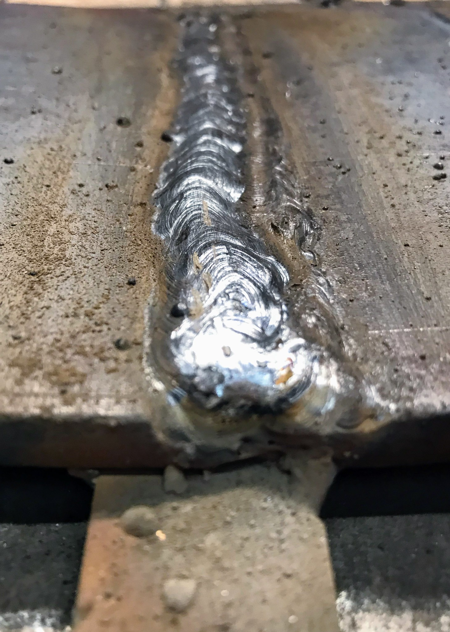 Almost a complete weld