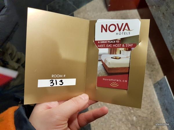 Chateau Nova Yellowknife Hotel key card